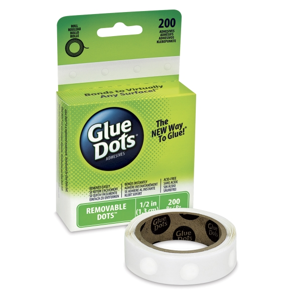 Removable Glue Dots, Box of 200