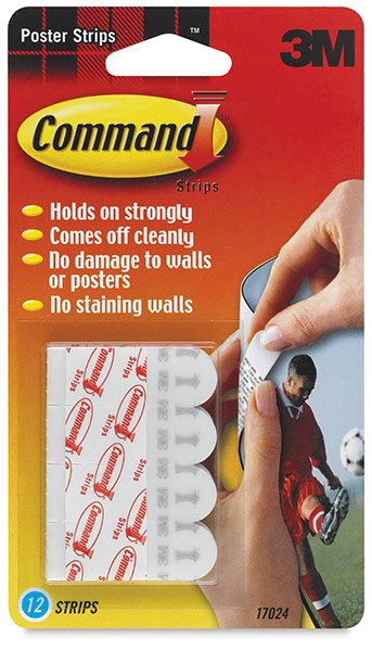 Adhesive Poster Strips, Pkg of 12
