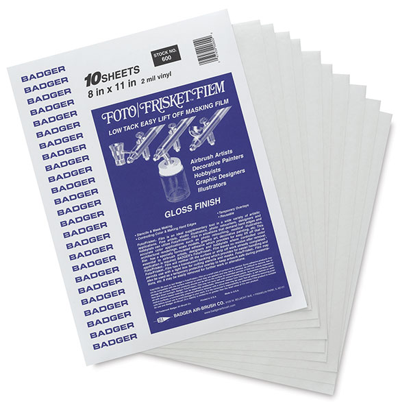 """8"""" × 11"""" Sheets, Package of 10"""