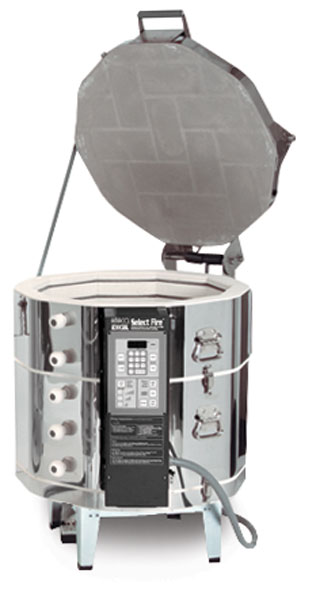 """Single Phase Kiln, 208V AC with EZ Lift, Example of Size 36""""H x 35""""W x 28½""""D"""