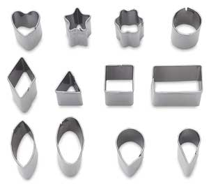 Mini Metal Clay Cutters, Set of 12