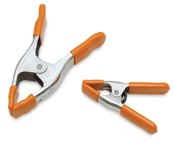 """2"""" (Left) and 1"""" (Right) Spring Clamps"""