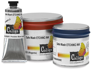 Safe Wash Etching Inks