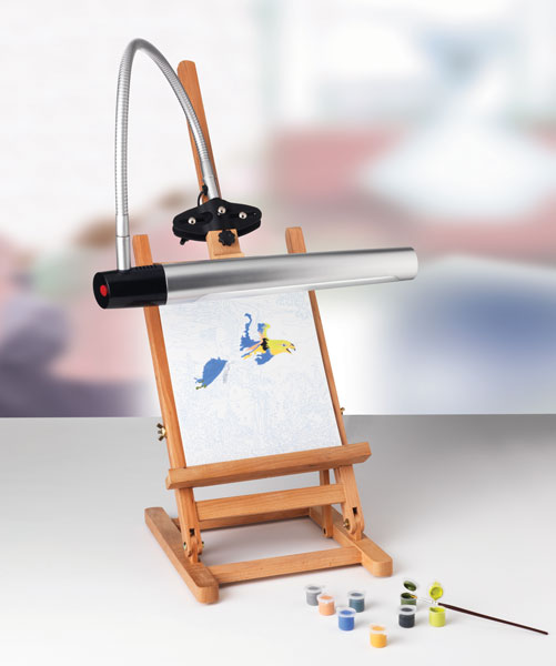 Professional Artist Lamp II (Easel and paints not included)
