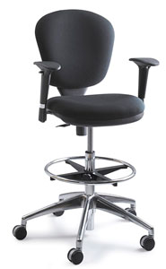 Metro Drafting Chair with Optional Adjustable Arms