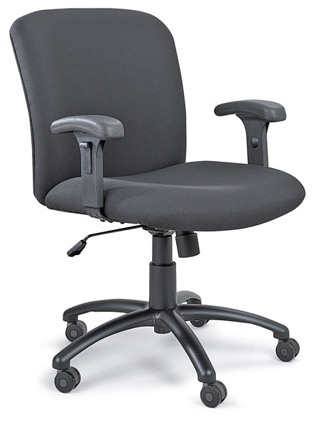 Mid-Back Uber Chair with T-Pad Arms, Sold Separately