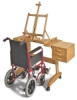 Painting Workstation Easel, Shown in Use with Wheelchair