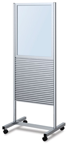 Double-Sided Slatwall Stand with Header