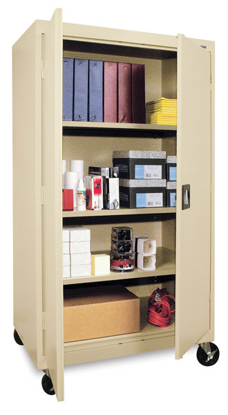 Mobile General Storage Cabinet, Putty