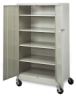 Mobile General Storage Cabinet, Light Gray