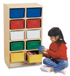 Mobile Storage Unit with 10 Trays