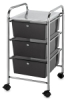 Mobile Storage Cart, 3-Drawer
