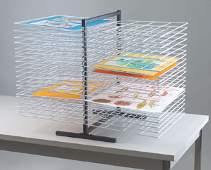 Double-Sided Tabletop Rack