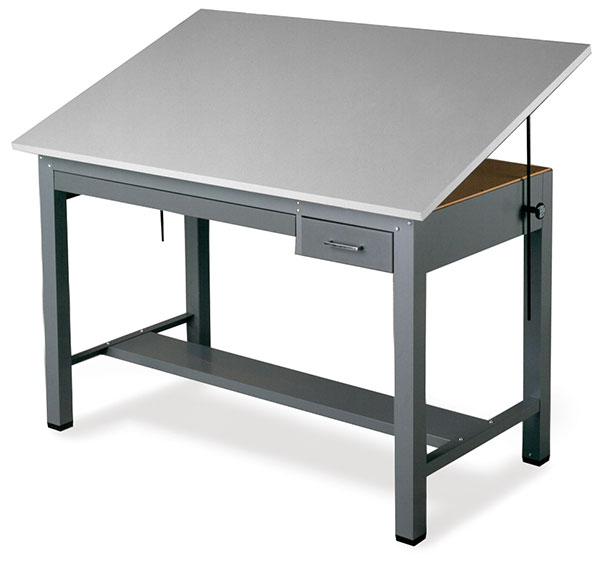 Small Economy Ranger Drawing Table with Tool Drawer and Plan Drawer