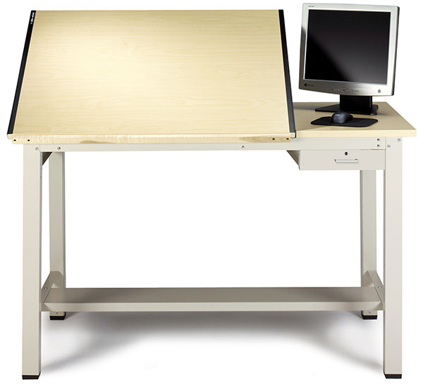 Small Ranger Drawing Table with Tool Drawer