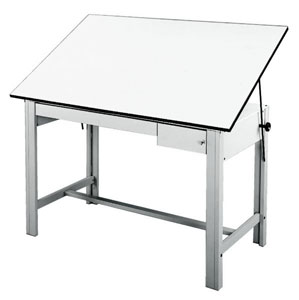 "Gray Table, 37½"""" × 60"""""
