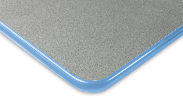 Gray with Blueberry Trim