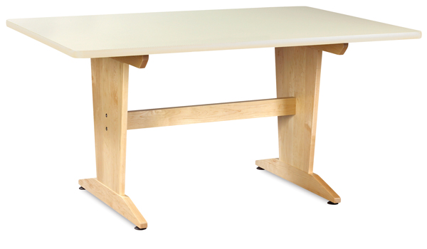 Planning Table, Almond Laminate Top