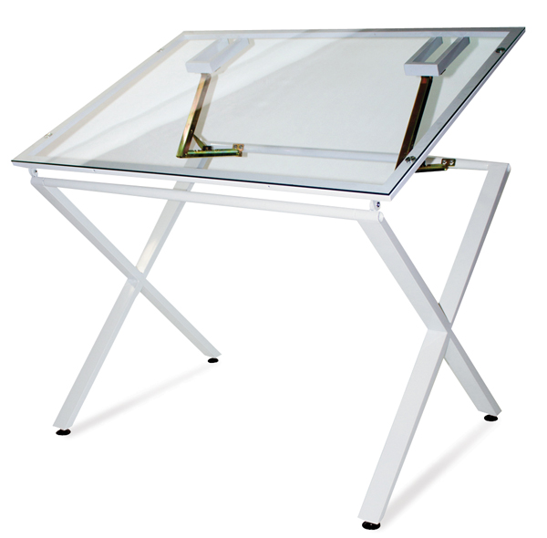 X-Factor Drawing & Hobby Table, Glass