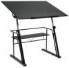 Zenith Drafting Table, Black Base / Black Top