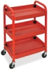 Compact Adjustable-Height Utility Cart