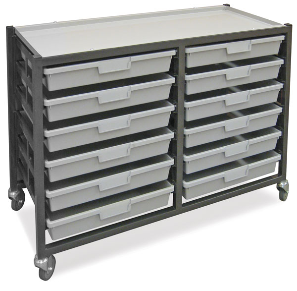 Mobile Tote Tray Cart