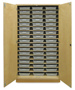 Storage Cabinet with 51 Certwood Tote Trays