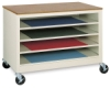 Paper Storage Cabinet With 4 Shelves