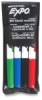 Assorted Fine Tip Dry Erase Markers, Set Of 4 With Pouch