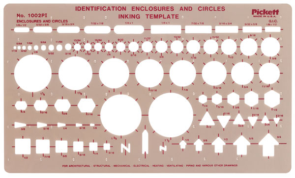 Identification Enclosures and Circles Template