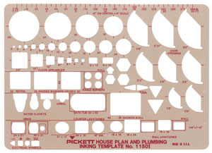 House Plan and Plumbing Template