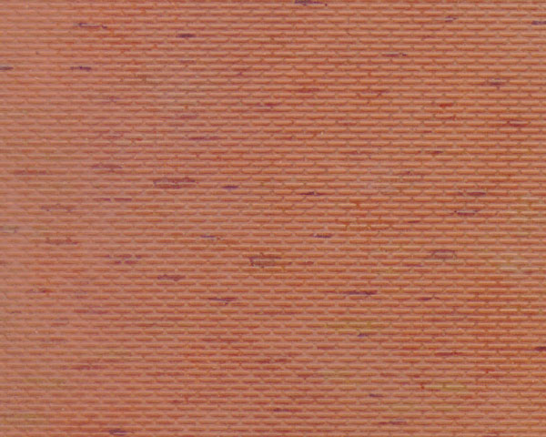 Example of painted Brick, 1:125 Scale