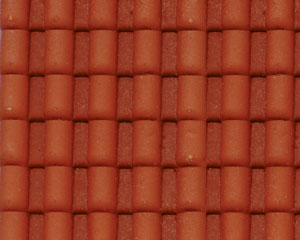 Example of painted Spanish Tile, 1:24 Scale