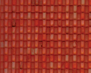 Example of painted Spanish Tile, 1:48 Scale
