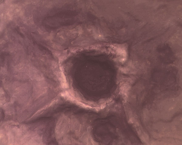Example of painted Moon & War Crater, No Scale