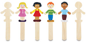 Wood Craft People Shapes, Pack of 36