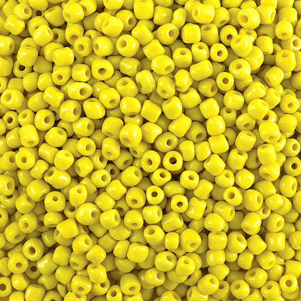 Opaque Glass E Beads, Yellow