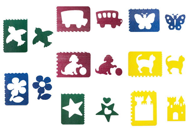 Mega Stencils with Wild Rulers, Pack of 8