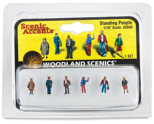 """Scale People Standing, 1/16"""""""