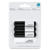 Sketch Pen Pack, Black and White, Set of 4