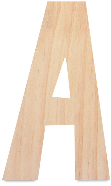 Unfinished Wood Letter A