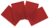 Red Opalescent Glass, Pkg of 4