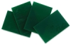 Green Opalescent Glass, Pkg of 4
