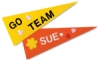 Felt Pennants, Pkg of 12 in 6 Assorted Colors