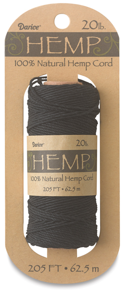 Hemp Cord Spool, Black