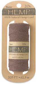 Hemp Cord Spool, Dark Brown