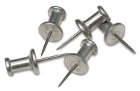 100 Stainless Steel Push Pins from Dick Blick
