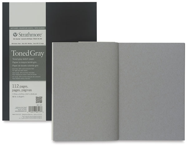 Softcover, Toned Gray