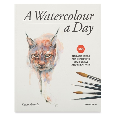 """<cite>A Watercolor a Day</cite>is ideal for both experienced and amateur watercolorists, providing fun tips and useful methods for playing with shadows and light and layering glazes to produce beautiful hues, create textures, and enhance features. Oscar Asensio. Paperback. 170 pages. 8"""""""" x 10""""""""."""
