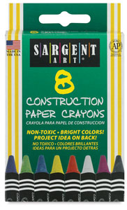 Construction Paper Crayons, Set of 8